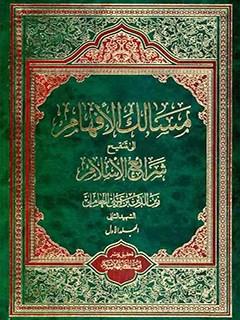 مسالك الافهام الي تنقيح شرائع الاسلام جلد 1